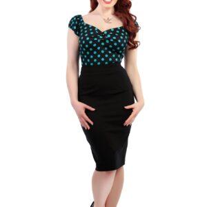 Polly Plain Bengaline Skirt Black.jpg